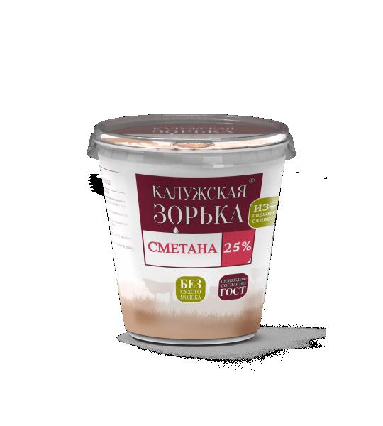 сметана 25% Калужская Зорька